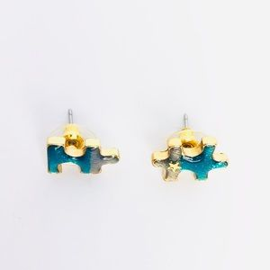 New! Starry Night Puzzle Studs Earrings